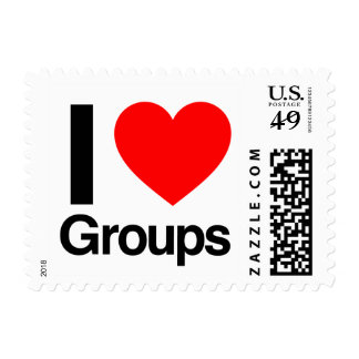 i love groups postage