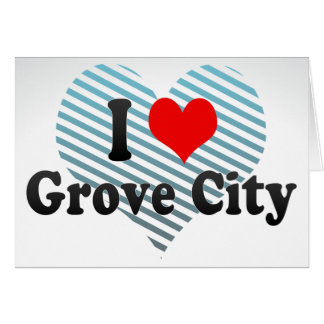 I Love Grove City, United States Stationery Note Card