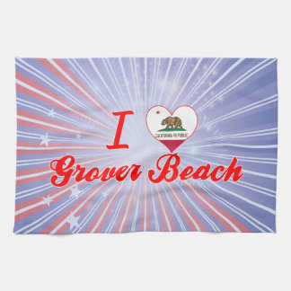 I Love Grover Beach, California Towels