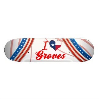 I Love Groves Texas Skateboard Decks
