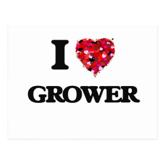 I Love Grower Postcard