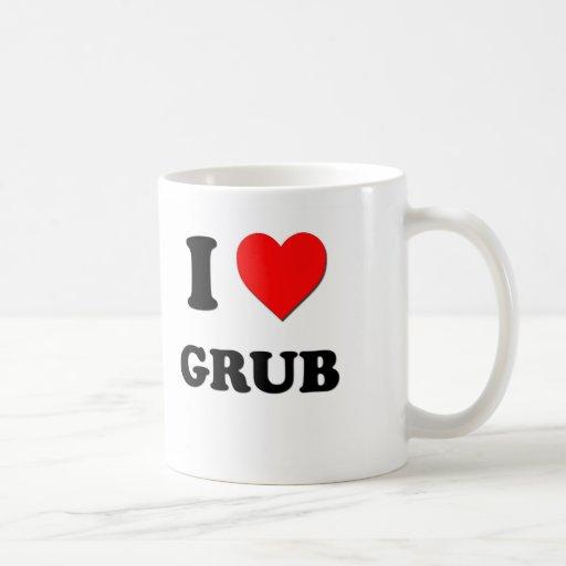 I Love Grub Classic White Coffee Mug
