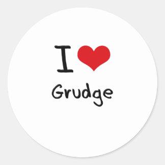 I Love Grudge Round Stickers
