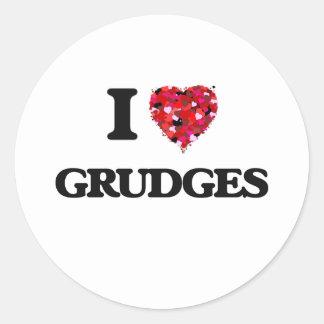 I Love Grudges Classic Round Sticker