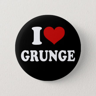 I Love Grunge Pinback Button