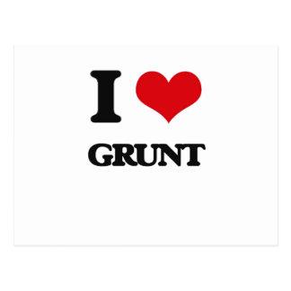 I love Grunt Postcard
