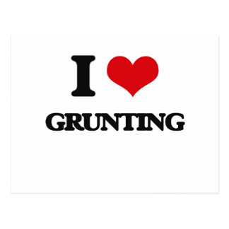 I love Grunting Postcard