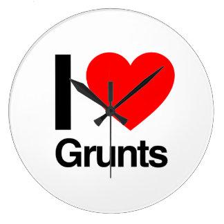 i love grunts wall clocks