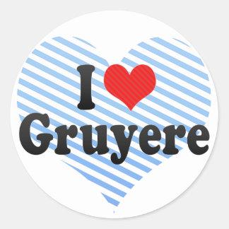 I Love Gruyere Classic Round Sticker
