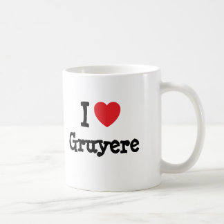 I love Gruyere heart T-Shirt Classic White Coffee Mug