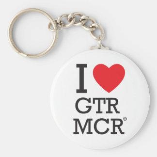 I love GTR MCR Basic Round Button Keychain