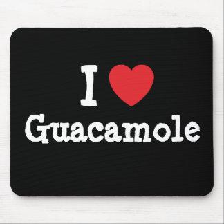 I love Guacamole heart T-Shirt Mouse Pads