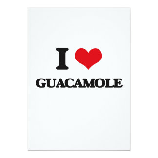 """I love Guacamole 5"""" X 7"""" Invitation Card"""