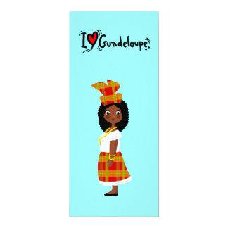 I love guadeloupe+ doudou créole 4x9.25 paper invitation card