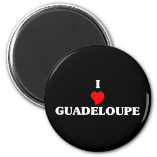 I Love Guadeloupe 2 Inch Round Magnet
