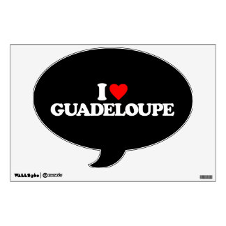 I LOVE GUADELOUPE ROOM DECAL
