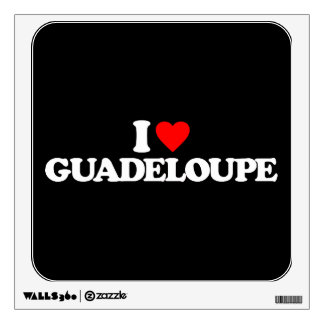 I LOVE GUADELOUPE ROOM STICKERS
