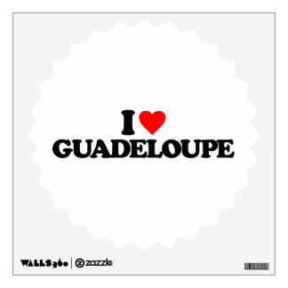 I LOVE GUADELOUPE ROOM DECALS