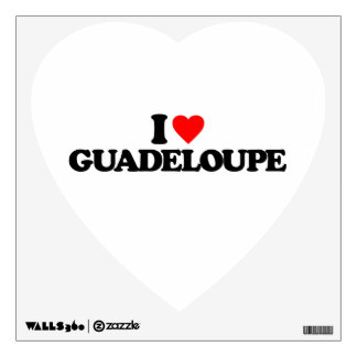 I LOVE GUADELOUPE WALL GRAPHIC