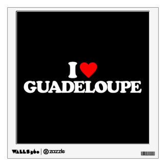 I LOVE GUADELOUPE WALL GRAPHICS