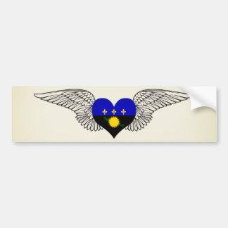 I Love Guadeloupe -wings Car Bumper Sticker