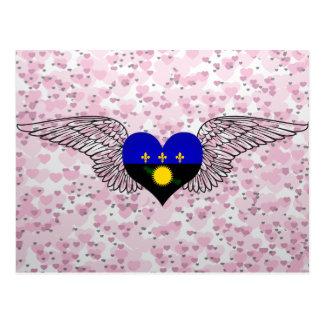I Love Guadeloupe -wings Postcard