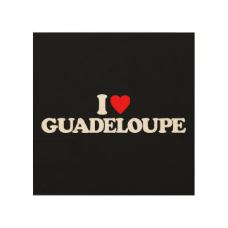 I LOVE GUADELOUPE WOOD CANVASES