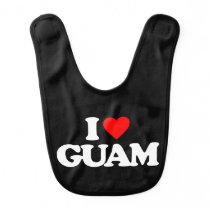 I LOVE GUAM BIB