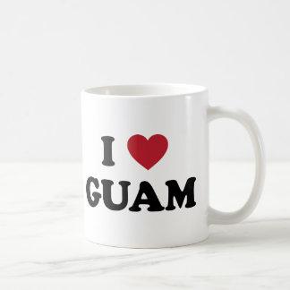 I Love Guam Coffee Mugs