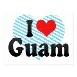 I Love Guam Postcard