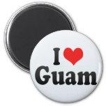 I Love Guam Refrigerator Magnet