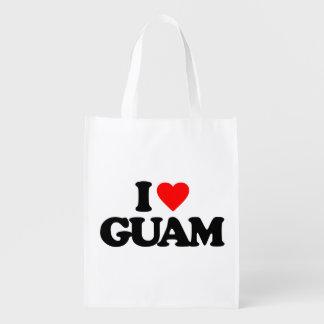 I LOVE GUAM MARKET TOTES