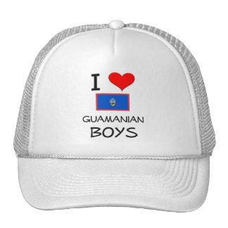 I Love Guamanian Boys Trucker Hats