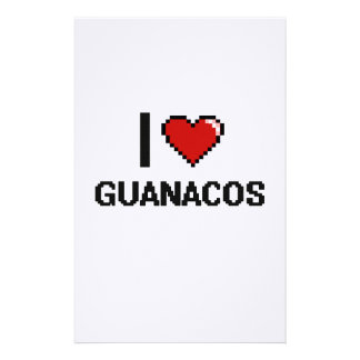 I love Guanacos Digital Design Stationery
