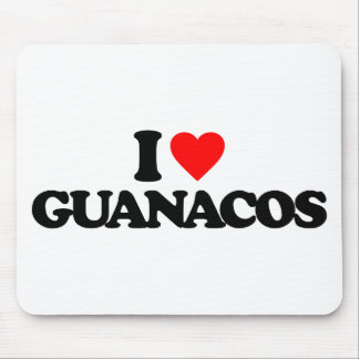 I LOVE GUANACOS MOUSE PAD