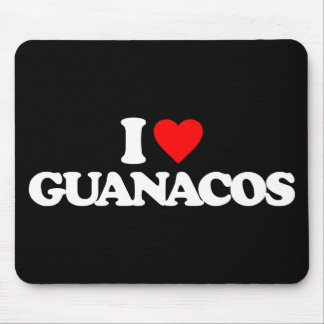 I LOVE GUANACOS MOUSE PADS