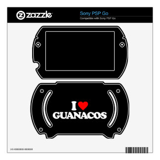 I LOVE GUANACOS SONY PSP GO DECALS