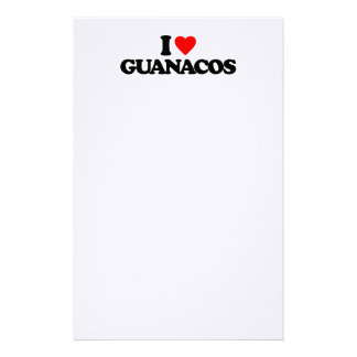 I LOVE GUANACOS STATIONERY DESIGN