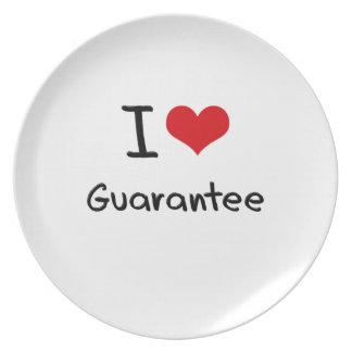 I Love Guarantee Plates