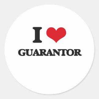 I love Guarantor Round Stickers