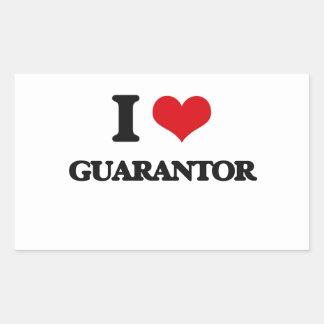 I love Guarantor Rectangle Sticker
