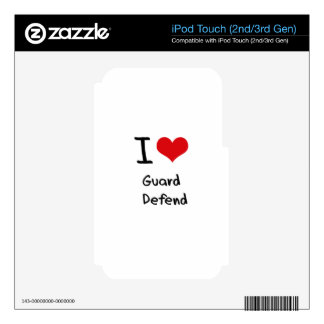 I Love Guard   Defend Skin For iPod Touch 3G