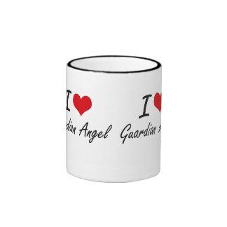 I love Guardian Angel Ringer Coffee Mug