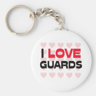 I LOVE GUARDS BASIC ROUND BUTTON KEYCHAIN