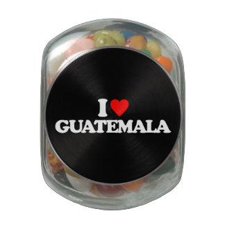 I LOVE GUATEMALA GLASS CANDY JARS