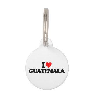 I LOVE GUATEMALA PET ID TAGS