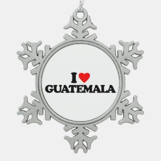 I LOVE GUATEMALA ORNAMENTS