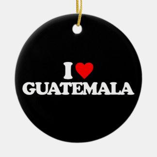 I LOVE GUATEMALA CHRISTMAS TREE ORNAMENT