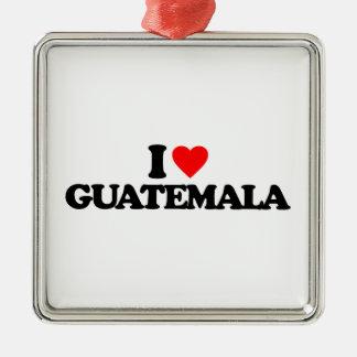 I LOVE GUATEMALA CHRISTMAS TREE ORNAMENTS