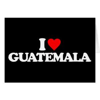 I LOVE GUATEMALA STATIONERY NOTE CARD